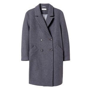 H&M WOOL BLEND DOUBLE BREASTED COAT